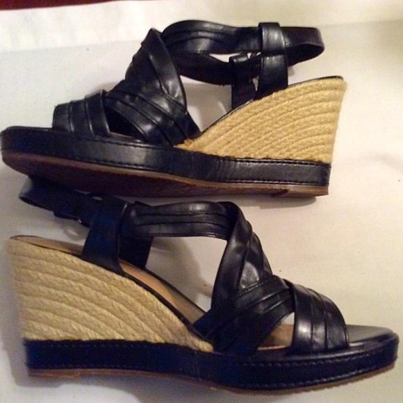 73 liz claiborne shoes liz claiborne black wedges