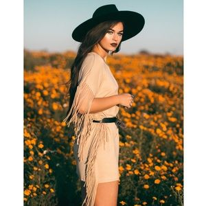 """Harvest Hymn"" Fringed Dress"