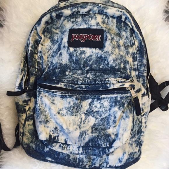 50% off Urban Outfitters Handbags - RARE Jansport Acid Wash Denim ...