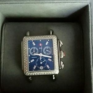 f2169548066e Michele Accessories | Blue Deco Face With Diamond Bezel | Poshmark