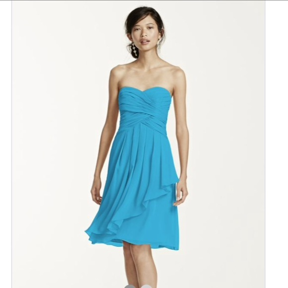 David S Bridal Malibu Short Bridesmaid Dress