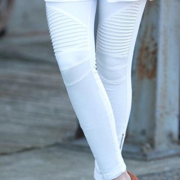 051d0316b2f09 Beulah Pants | Moto Jeggings White | Poshmark