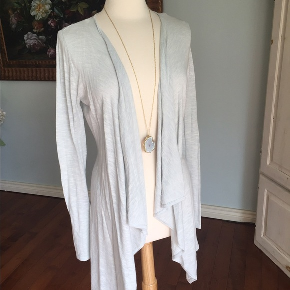 53% off Lola Sweaters - Gorgeous light blue waterfall cardigan ...