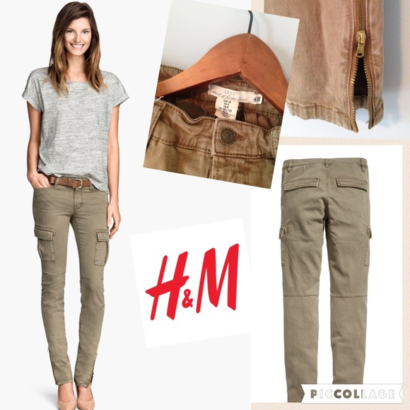 Amazing Hu0026m Cargo Pants In A Lyocell Blend In Brown | Lyst