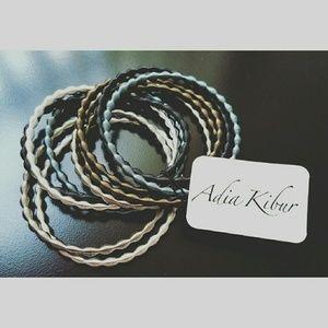 Adia Kibur Jewelry - Stack Metallic Wire Bracelets
