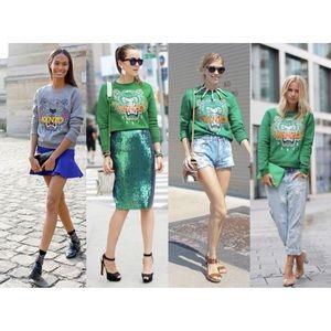 KENZO Green Sweatshirt Size S