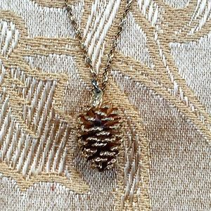 Jewelry - Gold Pine Cone Necklace