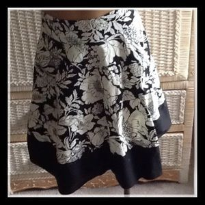 Cute, flirty black and white floral skirt