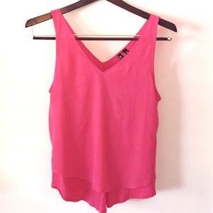 Valette Tops - Valette Pink Sleeveless Top