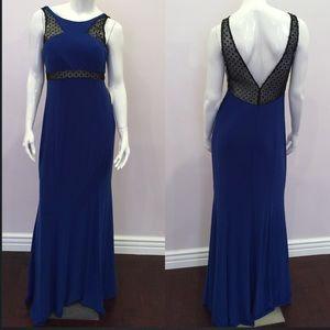 Cache Dresses & Skirts - Royal blue sequins embellishment gown