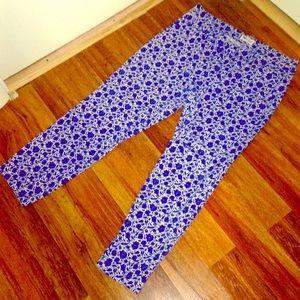 Old Navy Floral Print Pixie Pants