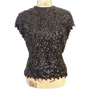 Vintage Sequined and Beaded Blouse