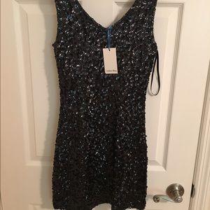 Amber Blue black sequin dress