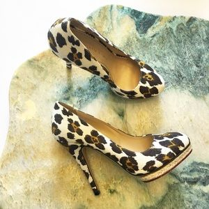 Charlotte Olympia Shoes - Charlotte Olympia Leopard Canvas Pumps