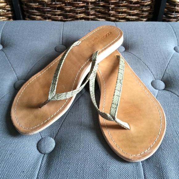 e3f981f69fcdd2 Cocobelle genuine snake skin thong sandals