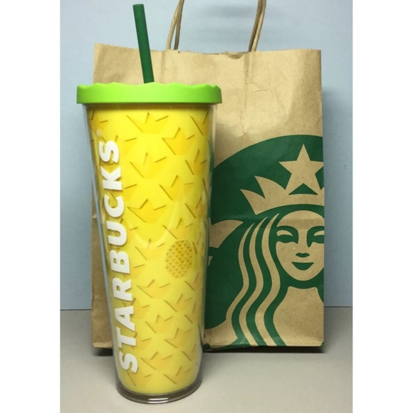 Starbucks Other Rare Iced Venti Cold Cup Pineapple 2016