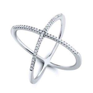 Blue Door Jewelry - NIP Crisscross X Ring