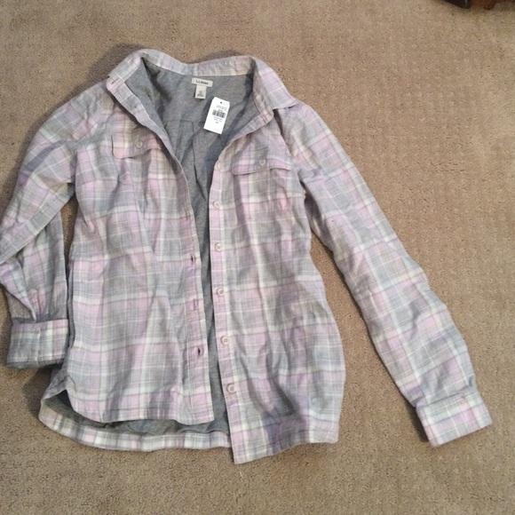 54 Off L L Bean Tops L L Bean Nwt Pink Grey Jersey