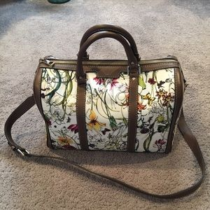 Authentic Gucci Floral Boston Bag