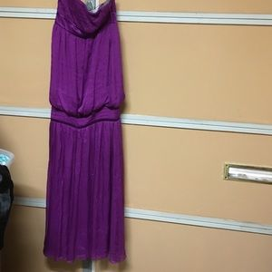 Malandrino purple studded strapless gown Sz 2