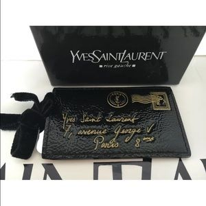 Authentic YSL Y-Mail Leather Purse Mirror