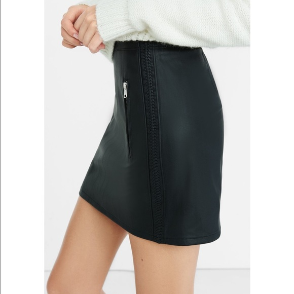 70200cc02 Express Skirts | Black Faux Leather High Waisted Mini Skirt | Poshmark