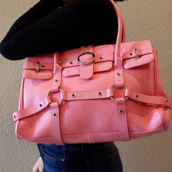 80% off The Find Handbags - SOLD • Pink Leather THE FIND Purse ...