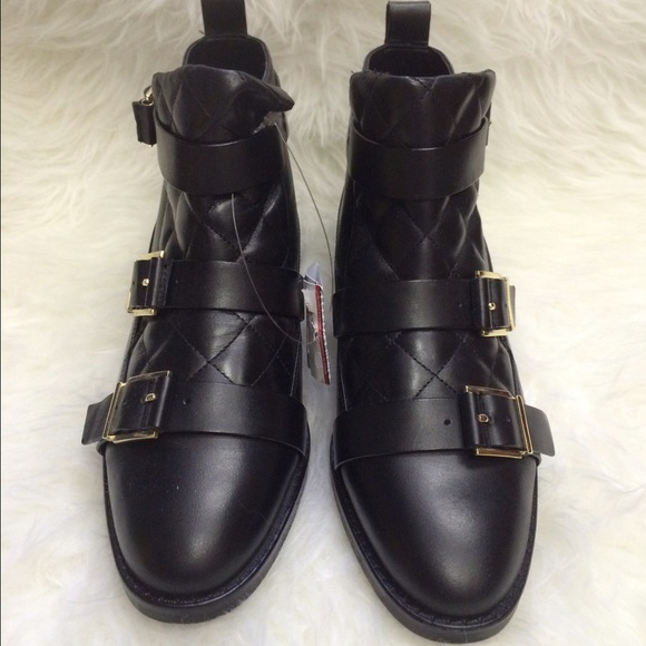 46% off Zara Shoes - zara padded real leather ankle boots-NEW from ...