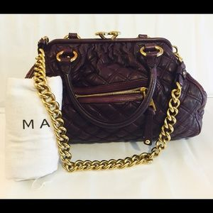 ⚡️SALE⚡️MARC JACOBS Leather Stam Quilted Shoulder