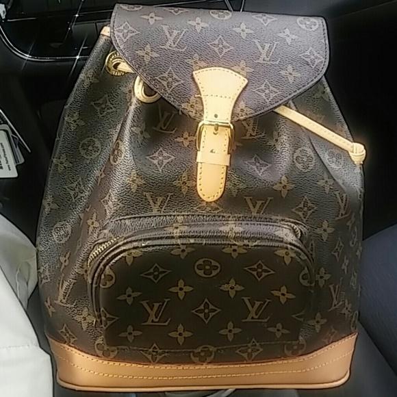 Louis Vuitton Handbags - Louis Vuitton Early 80 s Vintage Backpack. Women -  Palm Springs Backpack Mini Monogram ... 07102baeac1ba