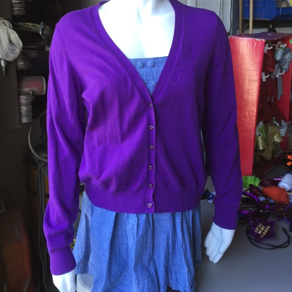 71% off jcpenney Sweaters - Light sweater jacket purple Large ...