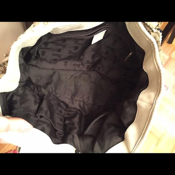 8108663a1 58% off Gucci Handbags - BLACK FRIDAY SALEGucci monogram leather handbag  from Denise'