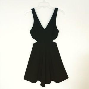 Cutout skater dress