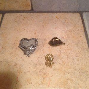 3 Mini Brooches