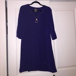 Bright Blue Retro Style Taylor Dress