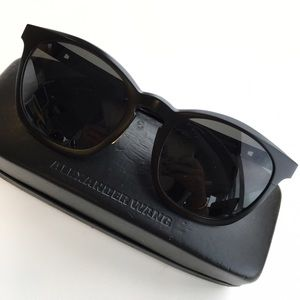 Alexander Wang Accessories - Alexander Wang x Linda Farrow Matte Black Sunnies