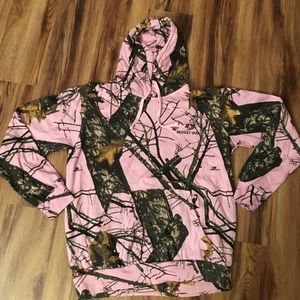 Mossy Oak Pink Camo Hoddie