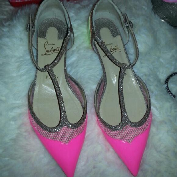 7678297b76d4 Christian Louboutin Shoes - Christian Louboutin Mrs.Early Flat  Patent Glitter