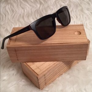 Adolfo Dominguez Accessories - Adolfo Dominguez Wooden Handmade Sunglasses
