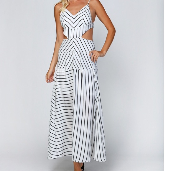 Dresses & Skirts - ‼️Buy 3/1 Free‼️ Clearance Stripe Cutout  Maxi
