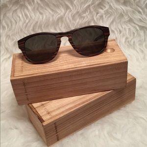 Adolfo Dominguez Accessories - Adolfo Dominguez Handmade Wooden Sunglasses NWOT