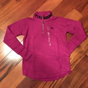 Victoria's Secret PINK half zip sweatshirt XS