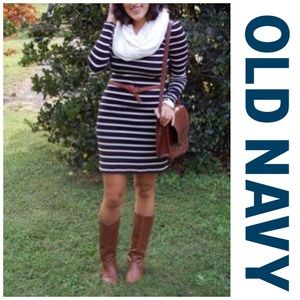Old Navy Black and White Striped Dress- NWOT