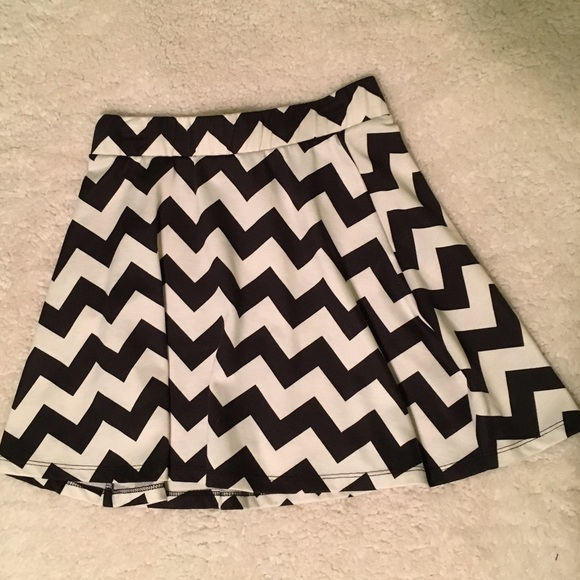 19774b16c0 Living doll Skirts | Black And White Chevron Circle Skirt | Poshmark