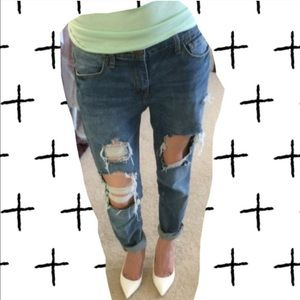BDG Ripped slim boyfriend style jeans sz25w