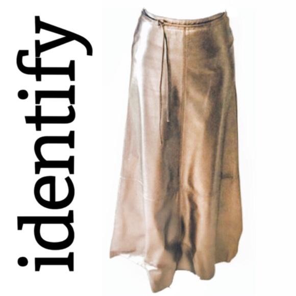 81% off Identify Dresses & Skirts - IDENTIFY Genuine Leather Long ...