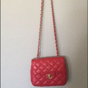 Handbags - Knockoff red Chanel bag. Used one time!!