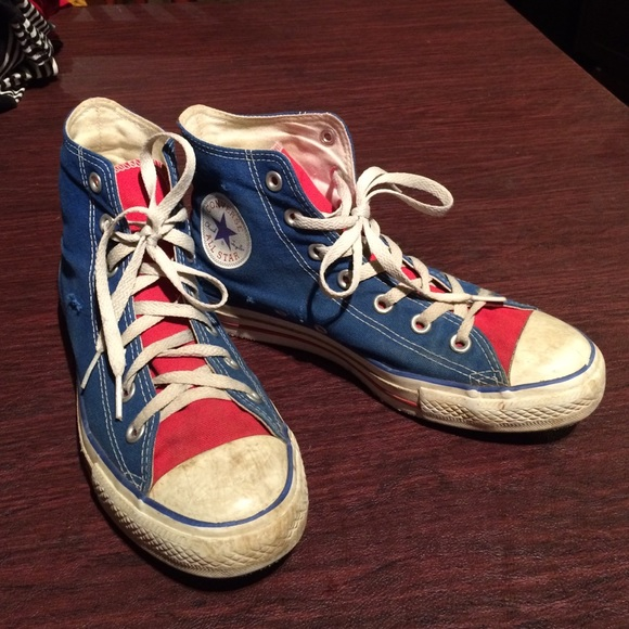 Converse Shoes | Converse Red And Blue