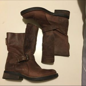 STEVE MADDEN leather moto boots