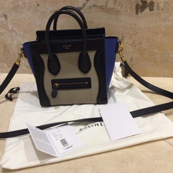 526fad8ac9ec Celine Handbags - Celine nano luggage tricolor